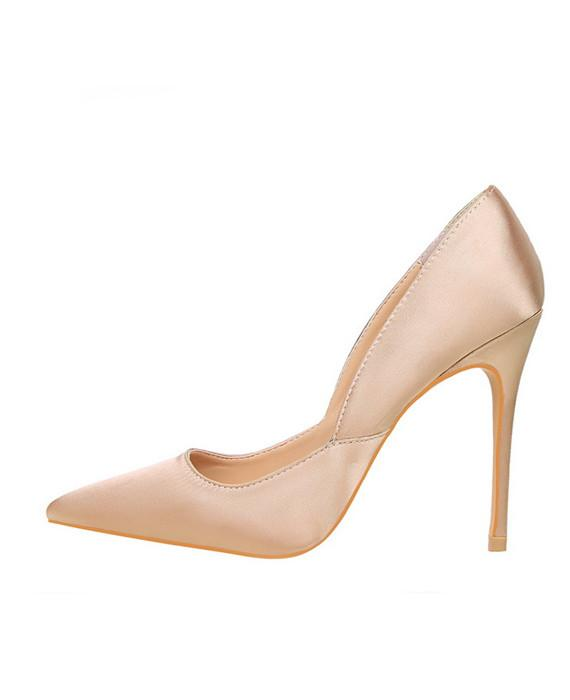 Leather Pointed Toes Slip On Pumps Sexy Shoes Pink