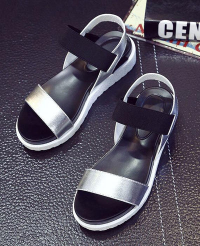 Casual Peep-toe Flat Gladiator Roman Sandals Shoes