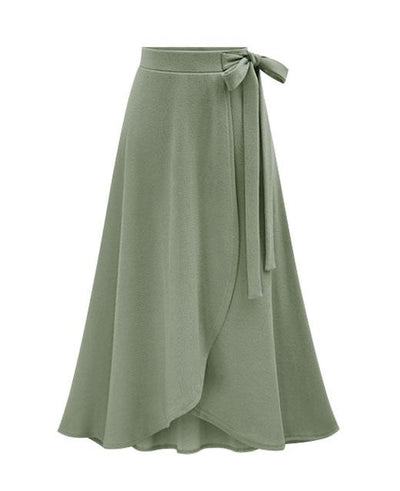 Plus Size S-6XL High Waist Irregular Maxi Casual Long Skirt