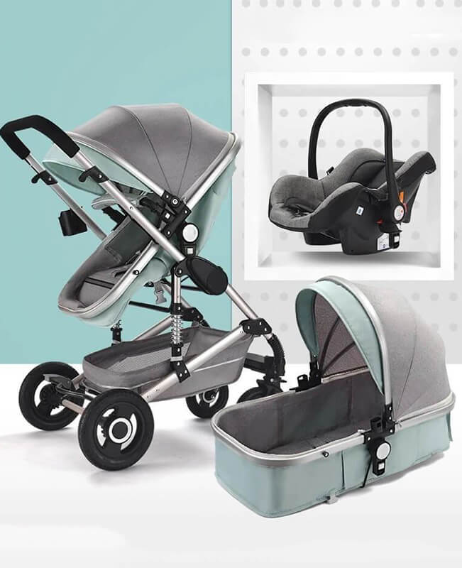 3 In 1 Stroller With Carrier Multi-functional Travel System
