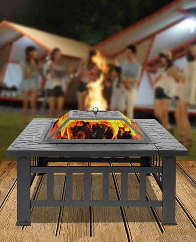 3 in 1 Wood Burning Fire Pit Bowl for Outdoor and Indoor