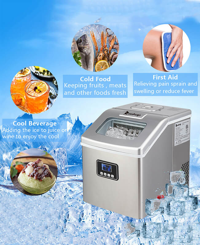 Countertop Ice Maker Machine Portable Kitchen Ice Maker