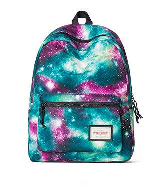 Galaxy Geometric Leaves Printing Canvas Backpacks