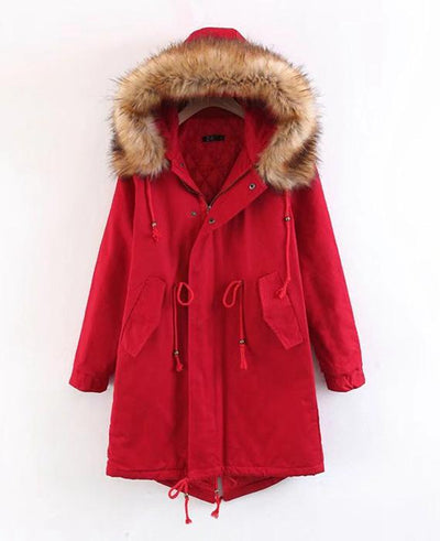 Cotton Padded Long Parka Jacket-3