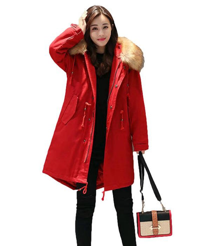 Cotton Padded Long Parka Jacket-5