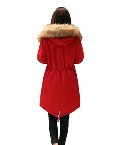 Cotton Padded Long Parka Jacket-7