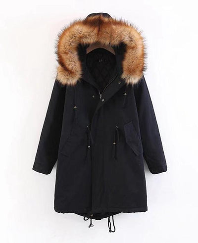 Cotton Padded Long Parka Jacket-2