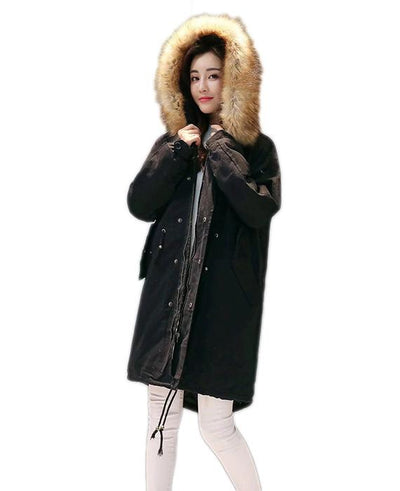Cotton Padded Long Parka Jacket-4