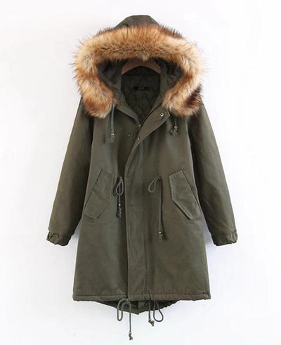 Cotton Padded Long Parka Jacket-1