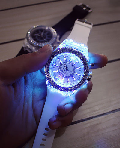 7 Colors Led Flash Luminous Watch