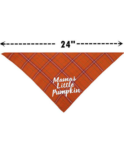 Thanksgiving Fall Dog Bandana Plaid For Puppy Cat 2 Pack
