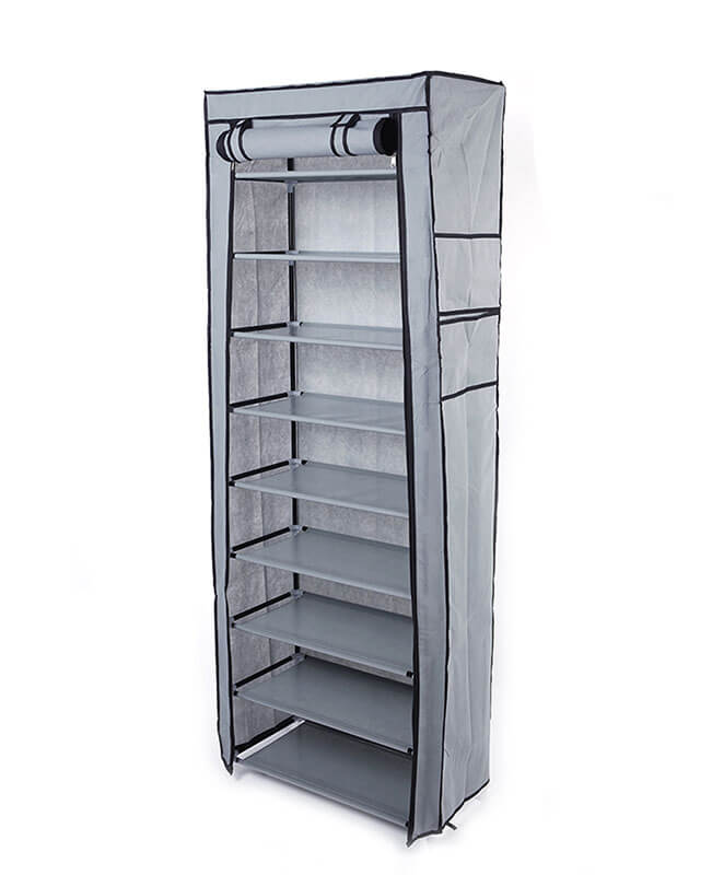 Storage Organizer 9 Tier Shoe Rack with Dustproof Cover