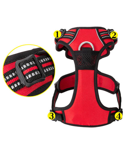 Adjustable No Pull Dog Harness Reflective Pet Harness