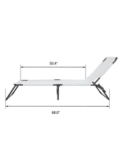 Adjustable Sleeping Cot Folding Camping Bed