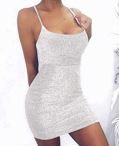 Back Bandage Sexy Sequin Dress