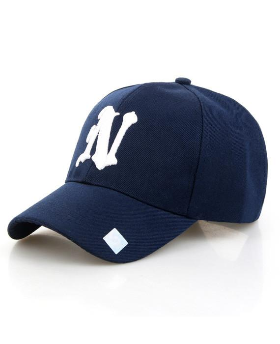 Baseball Cap Solid Color Leisure Hats N Letter Cap