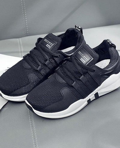 Breathable Mesh Lace Up Lightweight Sneakers