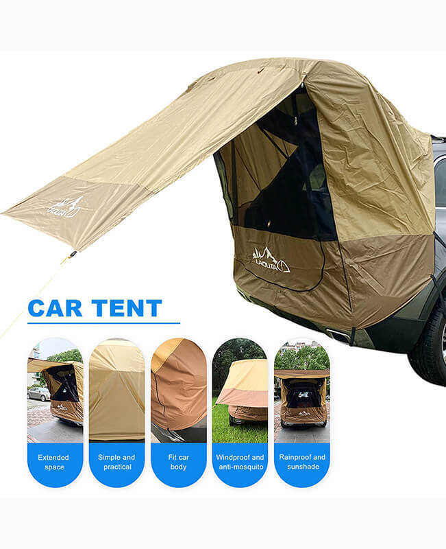 Car Trunk Tent Sunshade Rainproof Rear Tent