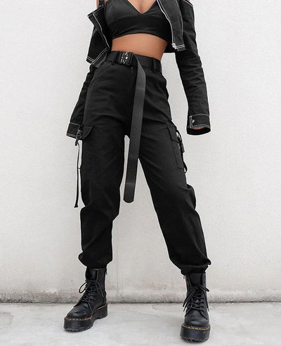 Casual High Waist Streetwear Pants