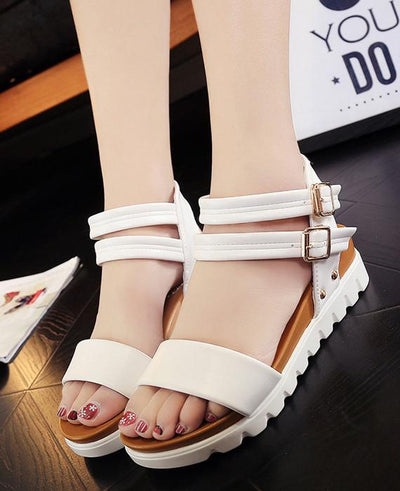 Casual buckle Summer Flats Sandals Shoes