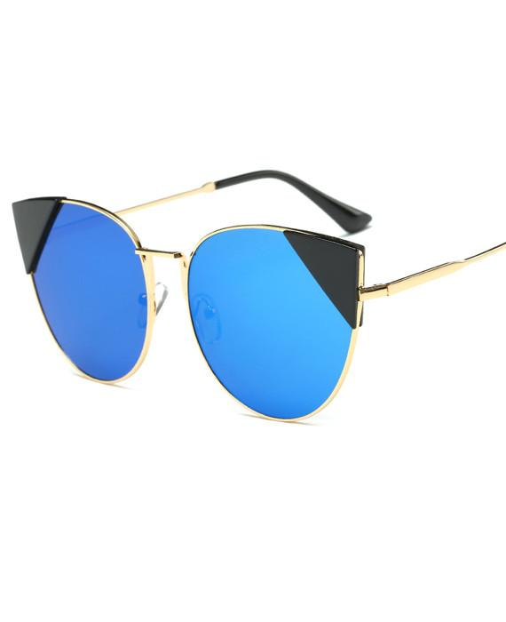 Cat Eye Metal Frame Retro Sun Glasses