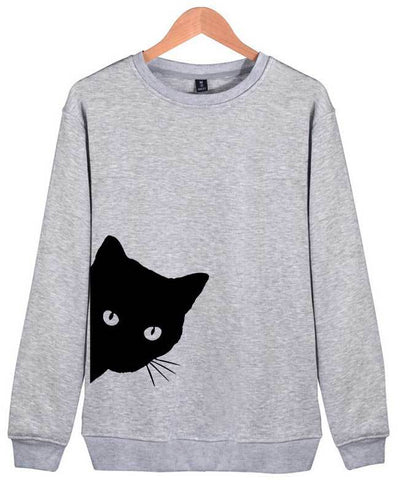 Cat Print Cute Hoodies-1
