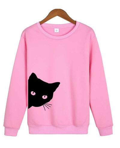 Cat Print Cute Hoodies-2