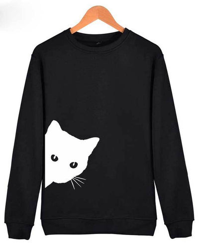 Cat Print Cute Hoodies-3