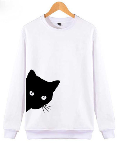 Cat Print Cute Hoodies-4