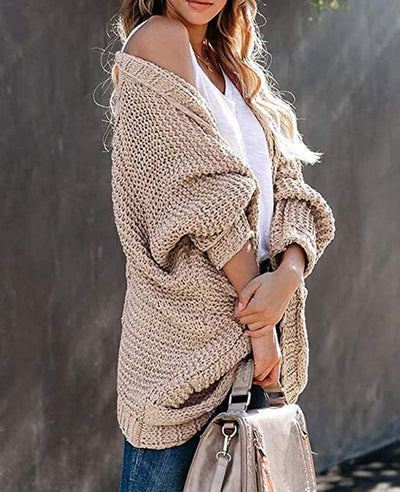 Chunky Cardigan Knit Sweater Loose Cable Knit Sweaters