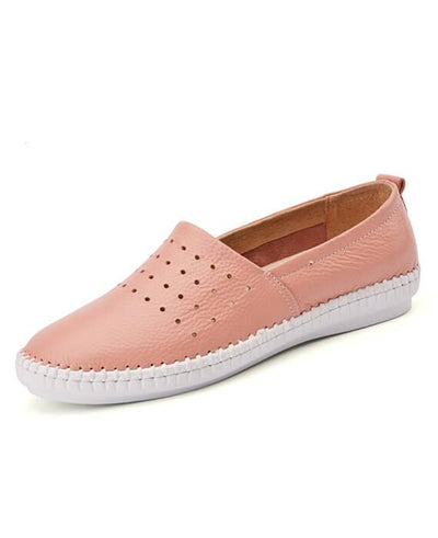 Cut Out Slip on PU Spring/Summer Flats Loafers