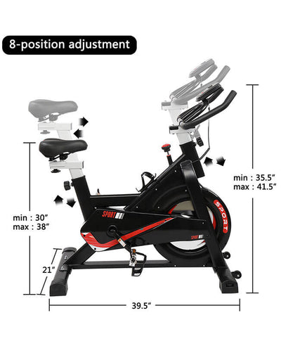 Indoor Cycling Bike Stationary Exercise Bike With 6KG Flywheel