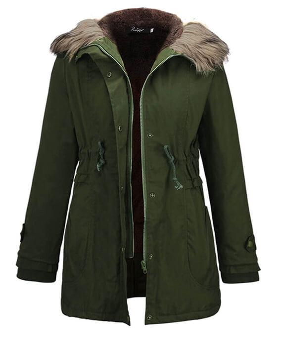 Faux Fur Lined Down Parkas Long Jacket