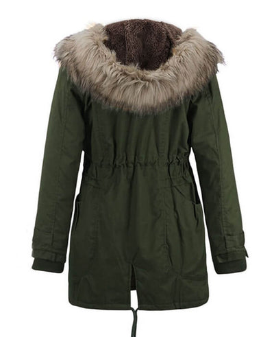Womens Parka Coats with Fur Hood-4