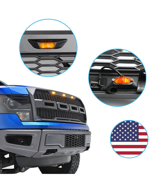 Ford F150 Raptor Grill for 2009-2014 with F R Letter