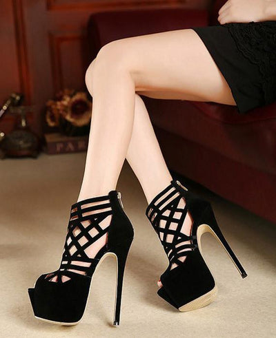 Pumps Platform Stiletto Heels Open Toe Dress Shoes