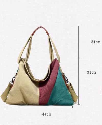 Vintage Canvas Shoulder Bag Fashion Messenger Crossbody Bag