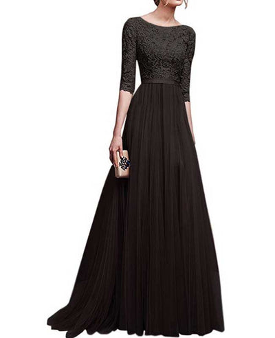 Lace Maxi Dress Evening Dresses