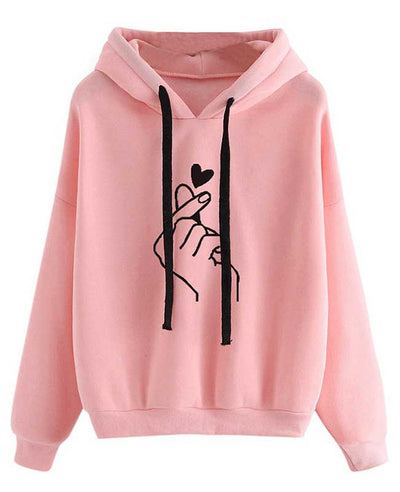 Heart Finger Print Cute Sweatshirts