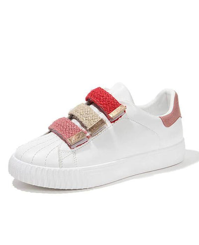 Hook Loop Mixed Color White Sneaker