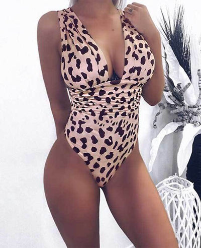 Leopard Sexy One Piece Swimsuits-1