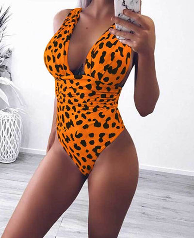Leopard Sexy One Piece Swimsuits-3