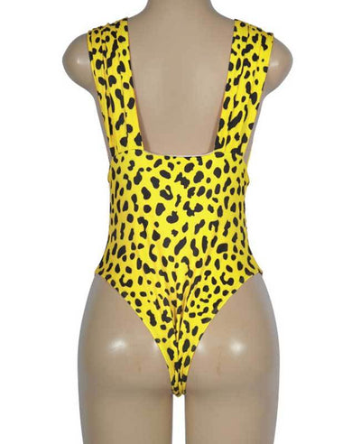 Leopard Sexy One Piece Swimsuits-10