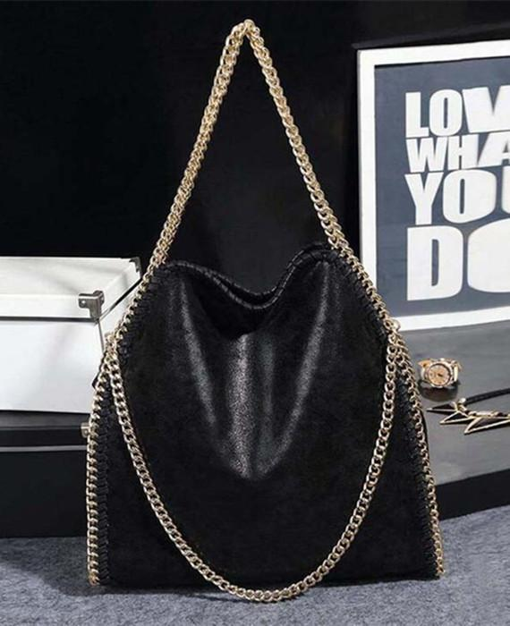 PU Clutch Chains Evening Shoulder Bag