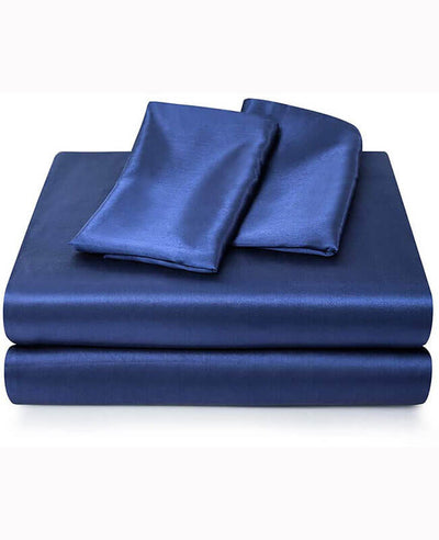 Luxury Silk Satin Sheets with Deep Pocket for King Queen