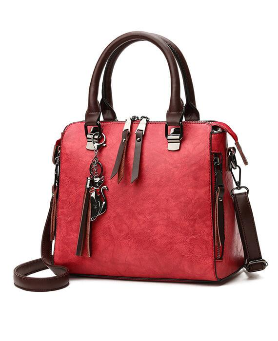 Luxury PU Leather Top Handle Crossbody Bags