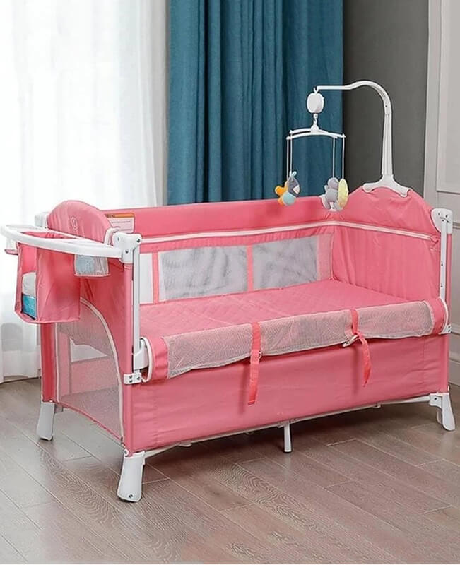Portable Baby Bed Sidecar Crib Co Sleeper Attaches to Bed
