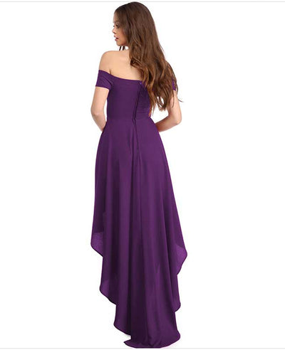 Off Shoulder Evening Dress-10