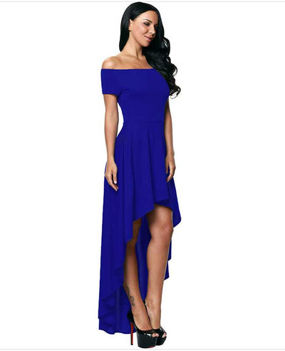 Off Shoulder Evening Dress-12