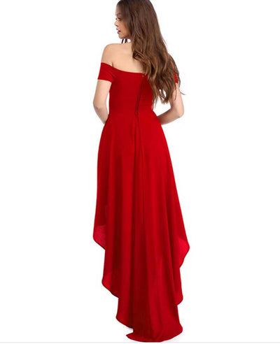 Off Shoulder Evening Dress-7